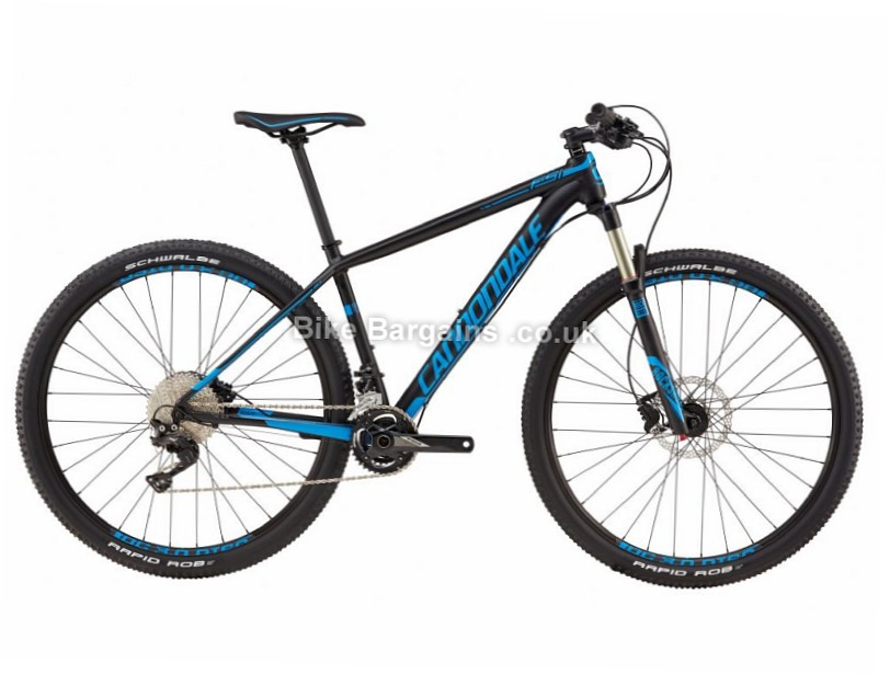 Cannondale F-si Al 3 Alloy Hardtail Mountain Bike 2017 S, 27.5, Black, Blue