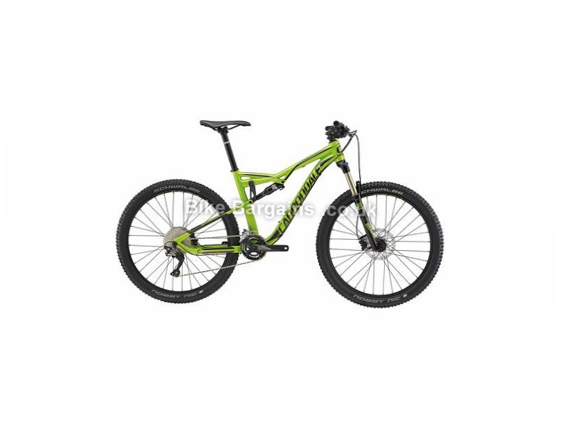 "Cannondale Habit Alloy 5 Full Suspension Mountain Bike 2017 S,M,L,XL, Green, 27.5"""
