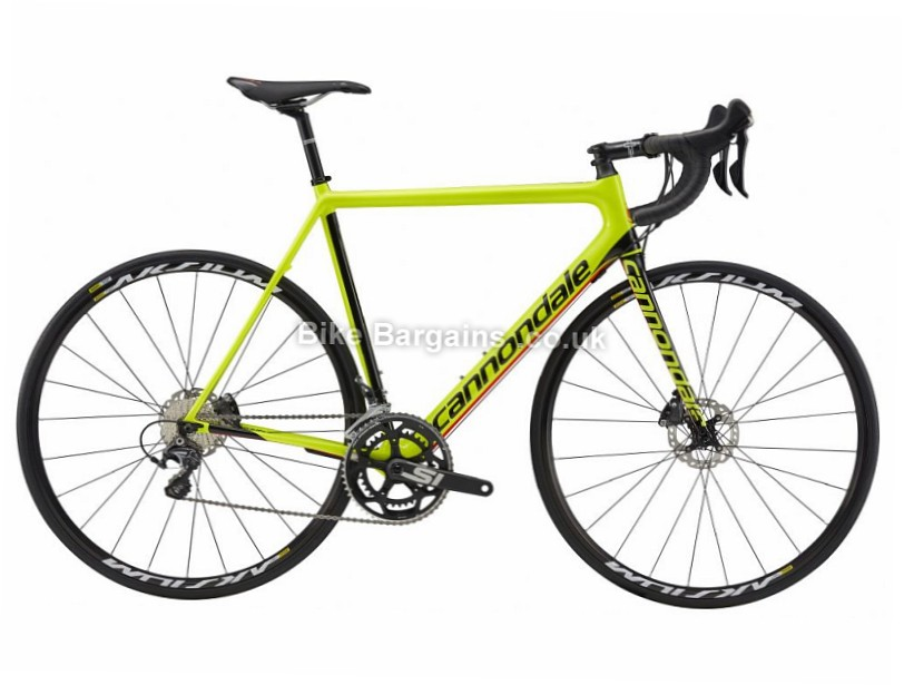 Cannondale S6 Evo Carbon Disc Road Bike 2017 54cm, Yellow, Black