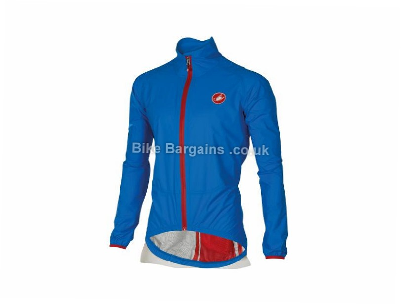 Castelli Riparo Road Rain Jacket S, Yellow, Men's, Long Sleeve