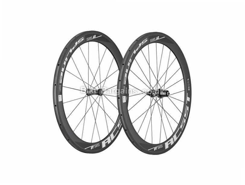 DT Swiss RC55 Spline Carbon Tubular Road Wheels Shimano, SRAM, Black, 10, 11 Speed, 700c, 1440g