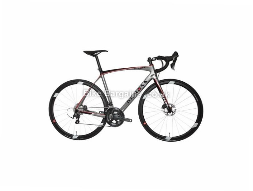 De Rosa Idol Disc Ultegra Carbon Road Bike 2017 700c, 52cm, Silver, Black, Red, 11 Speed, Carbon