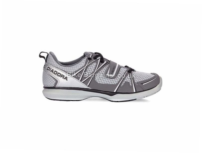 Diadora Herz Casual Cycling Shoes 37, 38, 39, Black, Grey, Green
