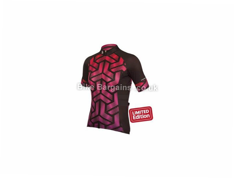 Endura Ladies Triweave Graphics Short Sleeve Limited Jersey S, L, Black, Pink