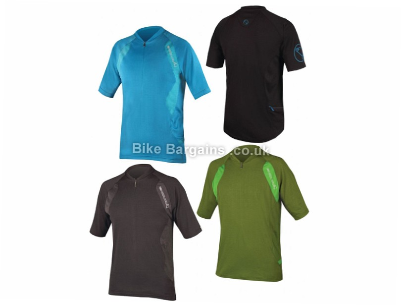 Endura Singletrack Short Sleeve Jersey S, Blue, Short Sleeve