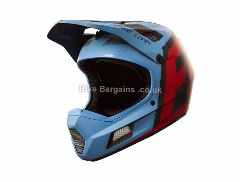 Fox Racing Rampage Comp Creo Helmet 2017 XL, Blue, Red, White, Yellow