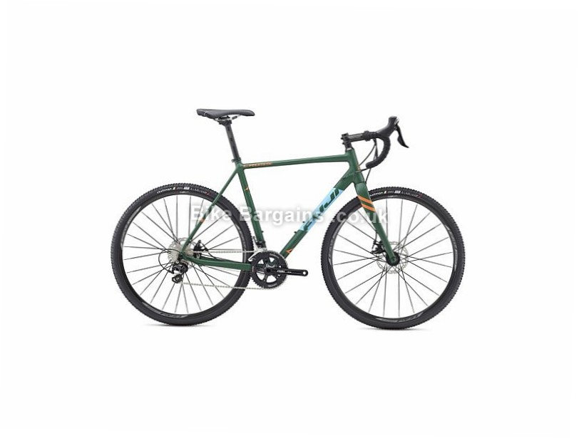 Fuji Cross 1.7 Disc 105 Alloy Cyclocross Bike 2017 700c, 52cm, 54cm, 56cm, 58cm, 61cm, Green, Blue, 22 Speed, Alloy