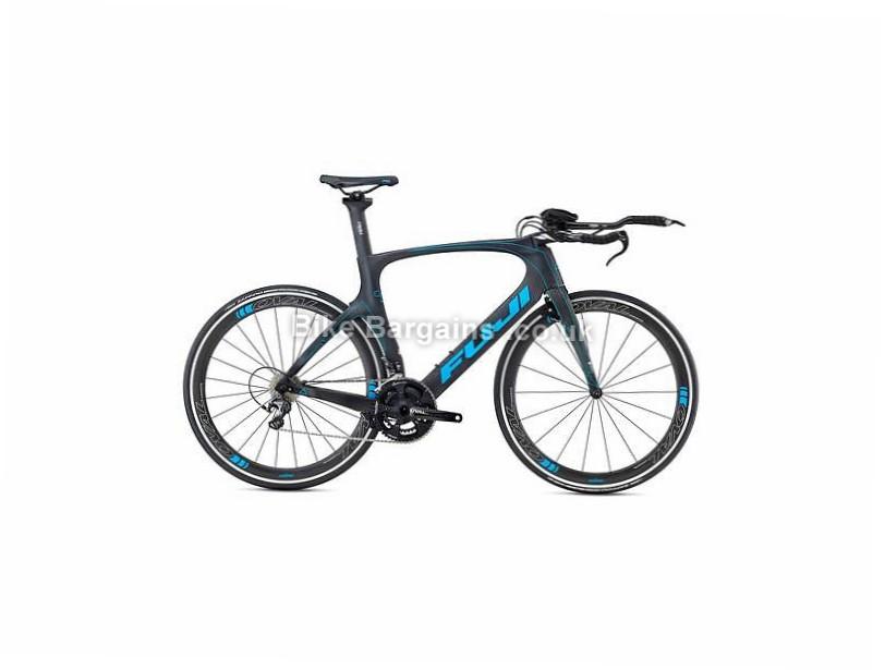 Fuji Norcom Straight 2.1 Carbon Triathlon Bike 2017 53cm, Black, Blue