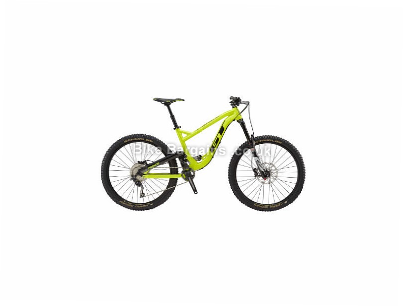 "GT Force AL Sport 27.5"" Alloy Full Suspension Mountain Bike 2017 Yellow, S, 27.5"""