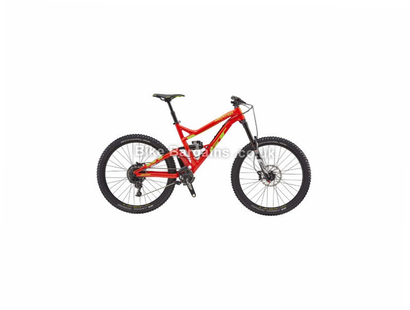"GT Sanction Expert Alloy Full Suspension Mountain Bike 2017 Red, S, 27.5"""