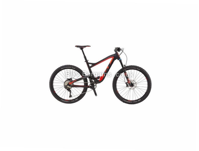 "GT Sensor Carbon Expert Full Suspension Mountain Bike 2017 Black, Red, S, M, L, XL, 27.5"""