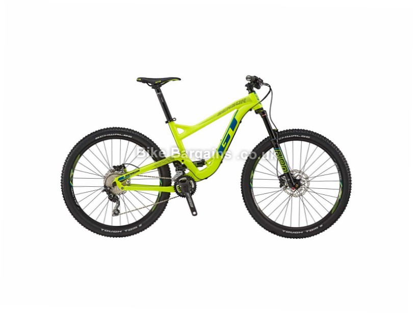 GT Sensor Comp Alloy Full Suspension Mountain Bike 2017 M,L, Yellow