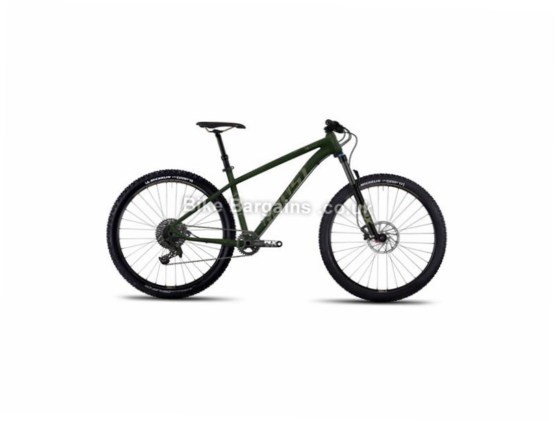 "Ghost Asket 4 AL 27.5 Alloy Hardtail Mountain Bike 2017 27.5"", 15"", 16"", 18"", Green, 11 Speed, Alloy, 130mm"