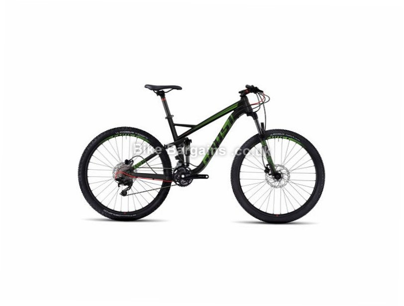 "Ghost Kato 3 27.5"" Alloy Full Suspension Mountain Bike 2017 27.5"", 18"", Black, Red, 30 Speed, Alloy, 130mm, 120mm"