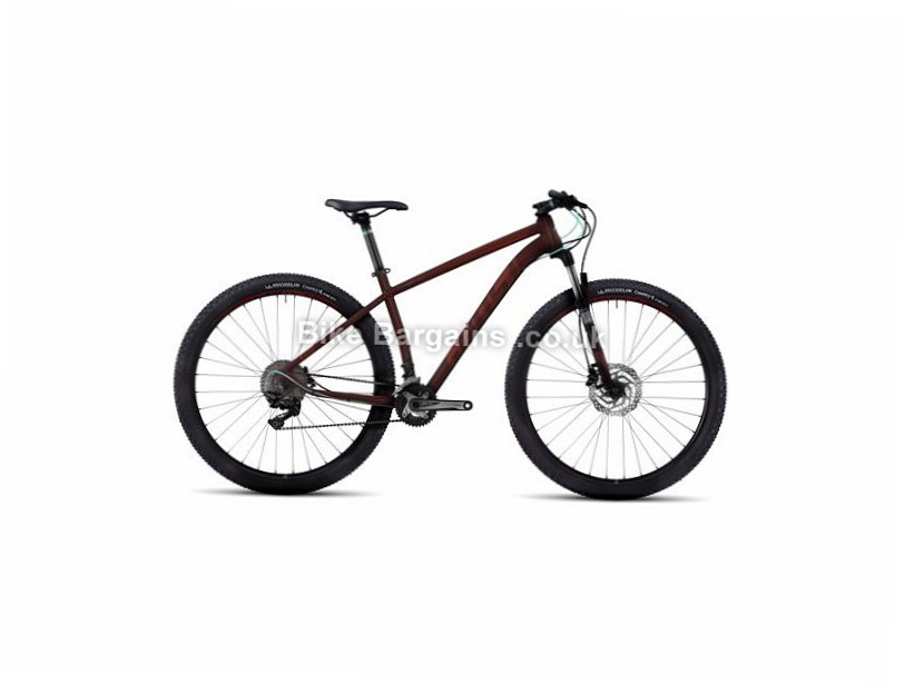"Ghost Kato 7 29 Alloy Hardtail Mountain Bike 2017 19"", 29"", Black, Red, 22 Speed, Alloy, 100mm"