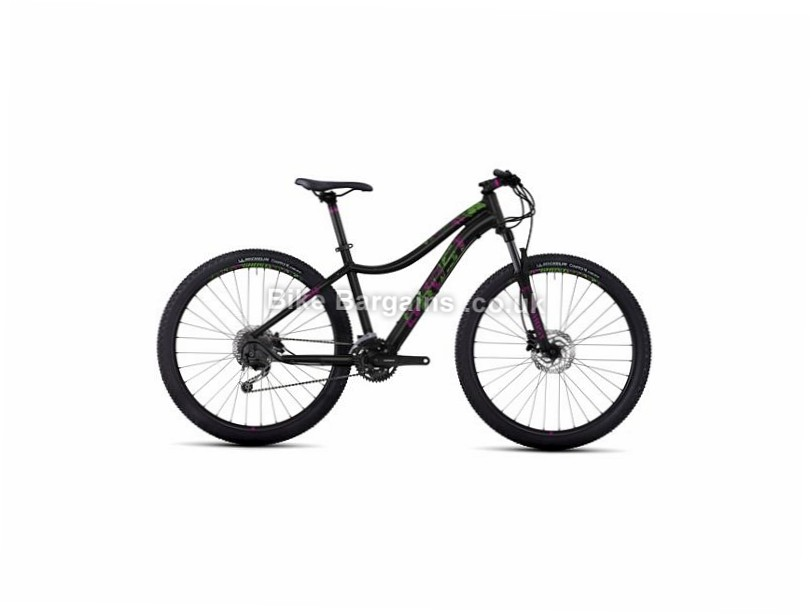 "Ghost Lanao 3 Ladies 27.5"" Alloy Hardtail Mountain Bike 2017 27.5"", 15"", Black, Pink, Grey, 27 Speed, Alloy, 100mm"