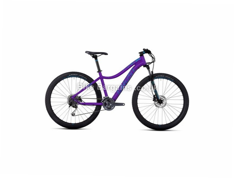 "Ghost Lanao 4 27.5 Ladies Alloy Hardtail Mountain Bike 2017 15"", 27.5"", Purple, White, 27 Speed, Alloy, 100mm"