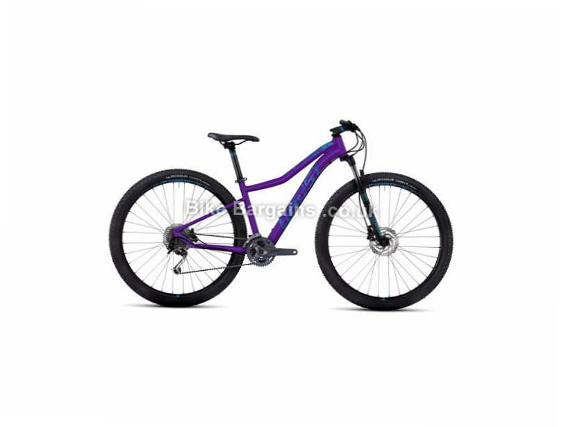 "Ghost Lanao 4 Ladies 29"" Alloy Hardtail Mountain Bike 2017 15"", 29"", Purple, 27 Speed, Alloy, 100mm"