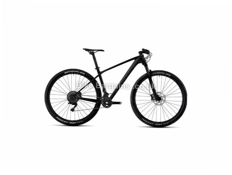 "Ghost Lector 3 29"" Carbon Hardtail Mountain Bike 2017 16"", 29"", Black, 22 Speed, Carbon, 100mm"