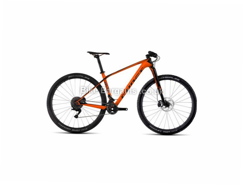 "Ghost Lector 7 29"" Carbon Hardtail Mountain Bike 2017 29"",  18"", Orange, Black, 22 Speed, Carbon, 100mm"