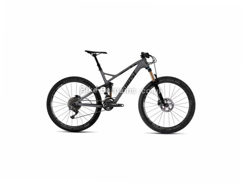 """Ghost SL AMR 9 27.5"""" Carbon Full Suspension Mountain Bike 2017 27.5"""", 19"""", Black, 22 Speed, Carbon, 130mm"""
