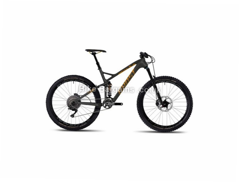 "Ghost SL AMR X 8 27.5"" Carbon Full Suspension Mountain Bike 2017 27.5"", 17"", 19"", Grey, Yellow, 11 Speed, Carbon, 150mm"