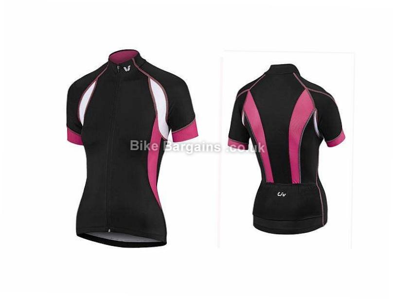Giant Liv Brisa Ladies Short Sleeve Jersey XL, Pink, Black