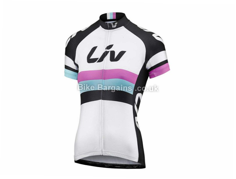 Giant Liv Race Day Ladies Short Sleeve Jersey XS, White, Black, Purple