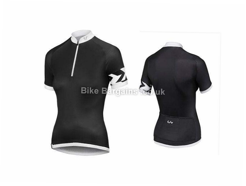 Giant Liv Radiant Ladies Short Sleeve Jersey XL, White, Black