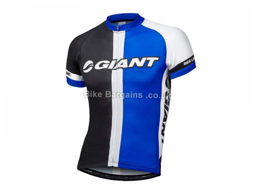 Giant Race Day Short Sleeve Jersey M, Black, Blue, White