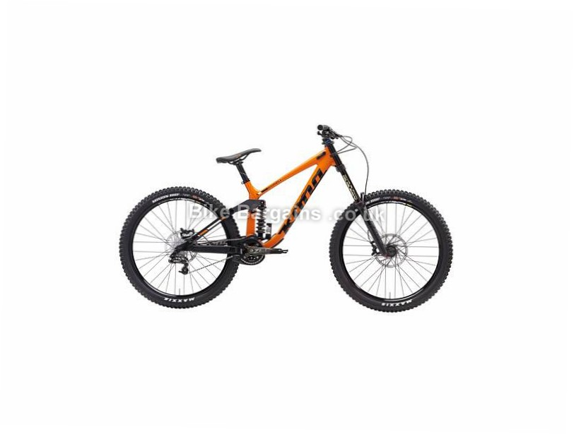 "Kona Operator DL 27.5"" Alloy Full Suspension Mountain Bike 2017 XL, Orange"