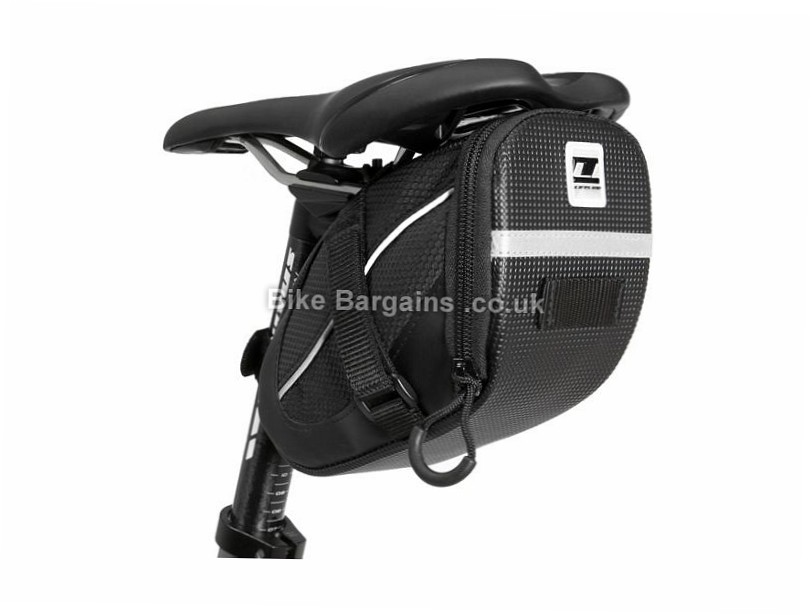 LifeLine Stash Saddle Bag XS, S, M, Black - L is extra