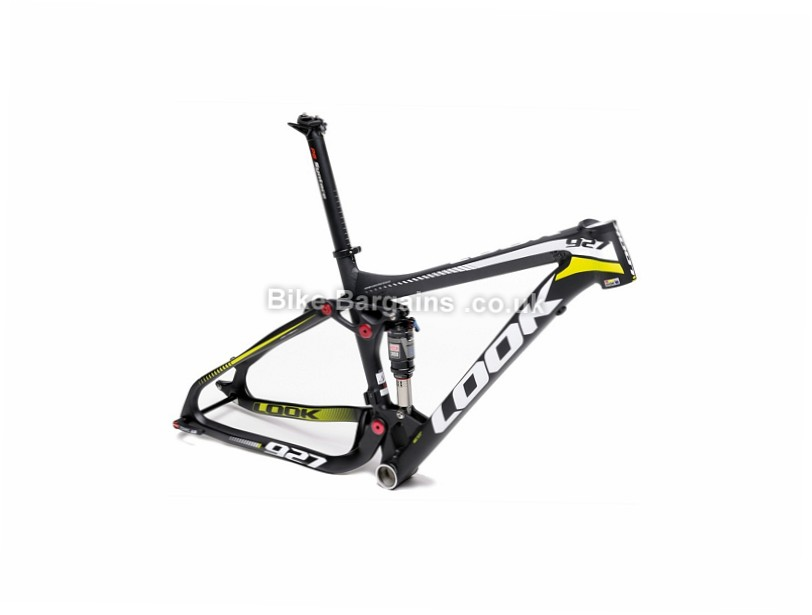 Look 927 Alloy Full Suspension Mountain Bike Frame XS,S,M,L, Black, Yellow