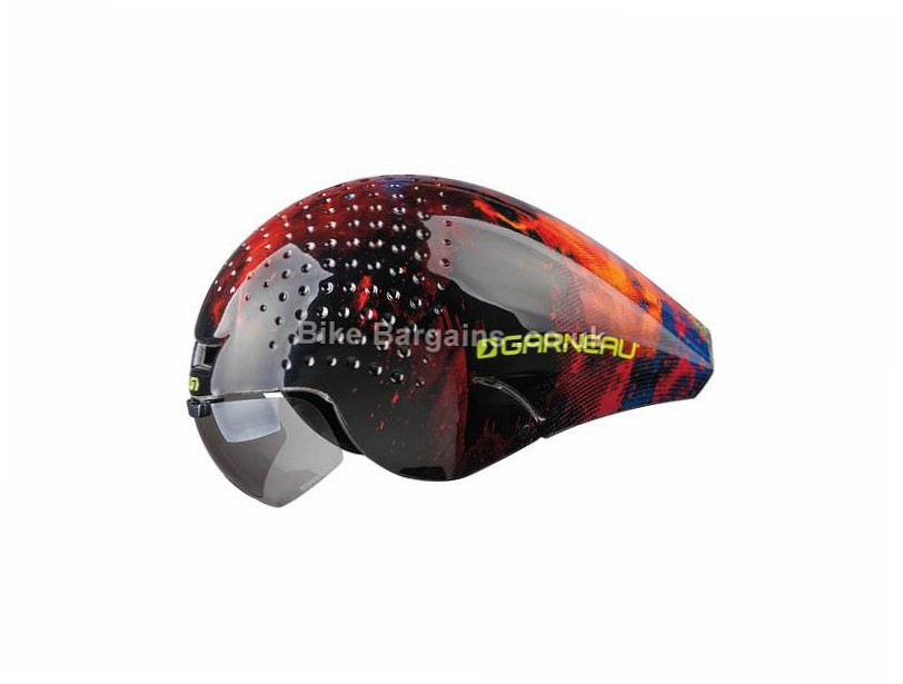 Louis Garneau P-09 Aero Helmet S, Black, Red, White, 350g, 4 vents