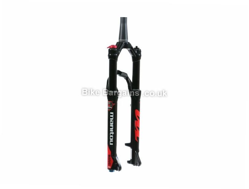 """Manitou Marvel Pro Mountain Bike Suspension Forks 15mm, 1.1/8"""", 1.5"""", Tapered, 100mm, 27.5"""", Black"""