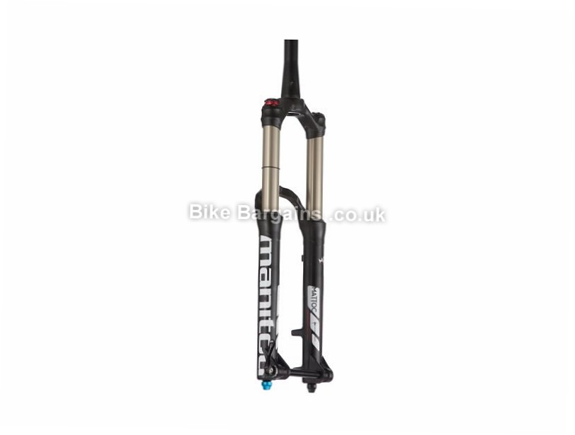 "Manitou Mattoc Expert Mountain Bike Suspension Forks 15mm, 160mm, 1.1/8"", 1.5"", Tapered, 27.5"", Black, White"