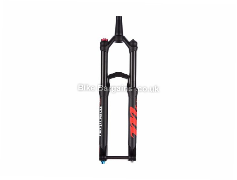 "Manitou Minute Pro Mountain Bike Suspension Forks 15mm, 1.1/8"", 1.5"", Tapered, 140mm, 27.5"", Black"