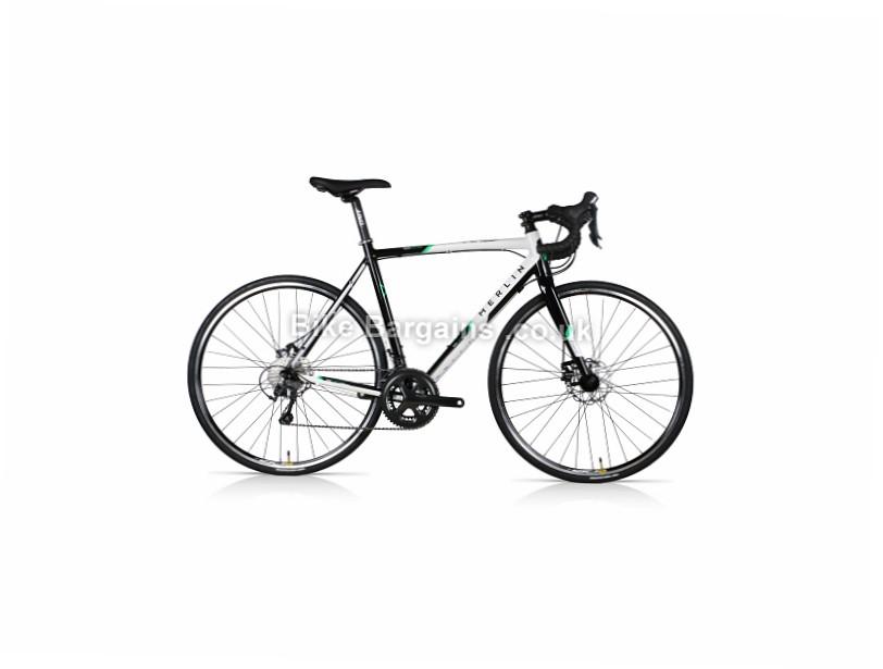 Merlin Axe7 Disc Alloy Tiagra Road Bike 2017 56cm, Black, White, Alloy, Disc, 10 speed, 700c