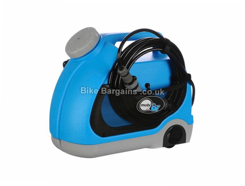 Mobi V-15 Portable Bike Pressure Washer Blue, 15 litres, 12 volts