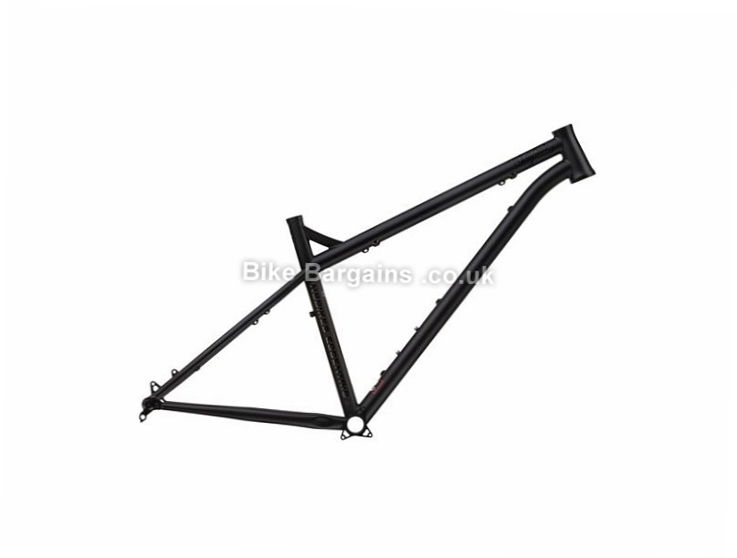 "NS Bikes Eccentric Cromo 29 Hardtail Mountain Bike Frame 19"", Black, Blue, Steel"