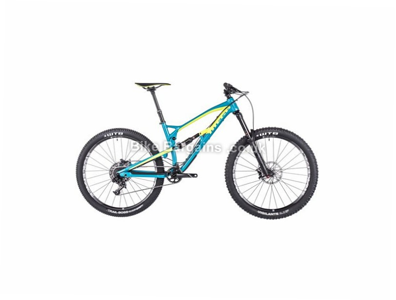 "Nukeproof Mega 275 Comp Alloy Full Suspension Mountain Bike 2017 27.5"", 16"", 18"", Green, 11 Speed, Alloy, 160mm"