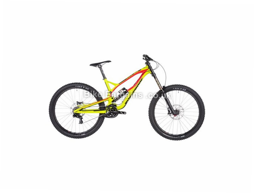 "Nukeproof Pulse Comp 27.5"" DH Mountain Bike 2017 27.5"", 15"", Green, Red, 7 Speed, Alloy, 200mm"