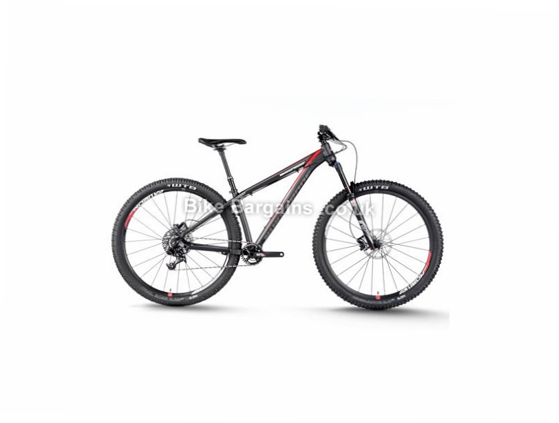 """Nukeproof Scout 290 Comp 29"""" Alloy Hardtail Mountain Bike 2016 15"""", 29"""", Black, Red, 11 Speed, Alloy, 130mm"""