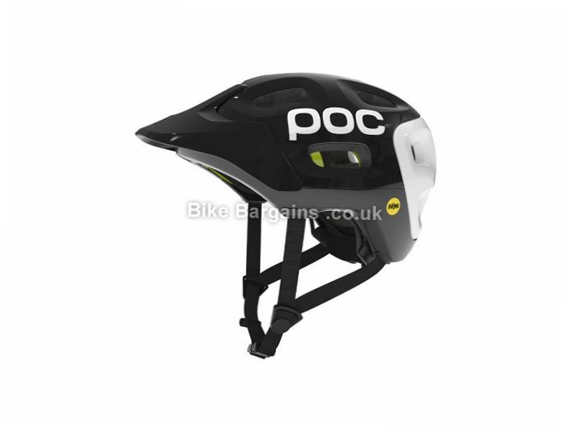 POC Trabec Race MIPS MTB Helmet XS, S, Black, White, 16 vents, 350g