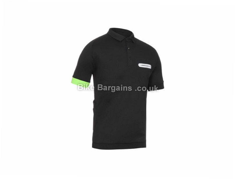 Primal Miles Polo Shirt Black, S,M