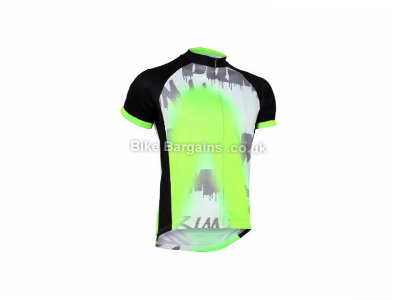 Primal Turnt Short Sleeve Jersey S, Black, White