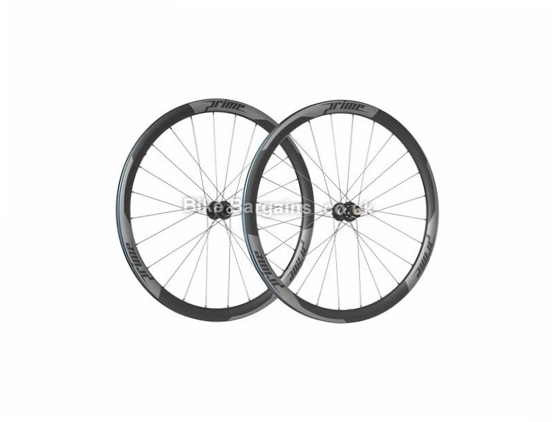 Prime RR-38 Carbon Clincher Disc Road Wheels 700c, Center lock, White, Black, 11 Speed, 1707g