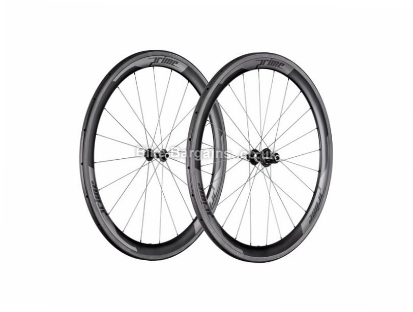 Prime RR-50 Carbon Tubular Road Wheels 700c, White, Black, 11 Speed