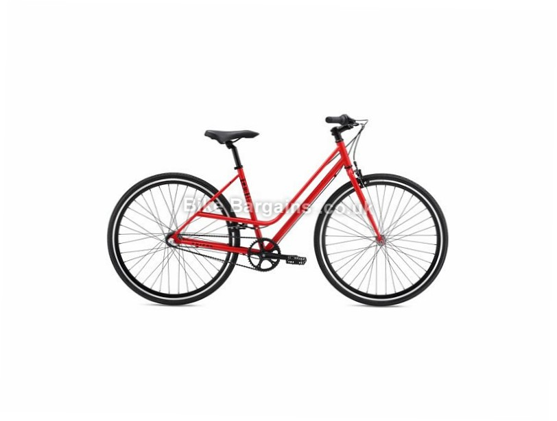 SE Bikes Tripel ST Steel Ladies Hybrid City Bike 2017 700c, 42cm, Red, Alloy