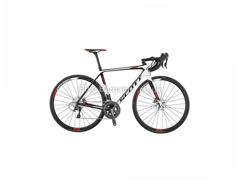 Scott Addict 20 Disc 105 Carbon Road Bike 2017 52cm, Black, White